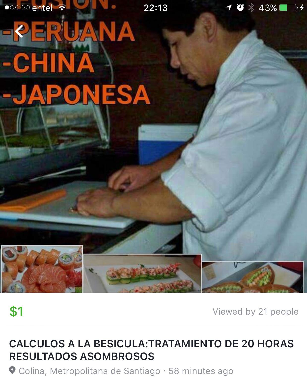 Cómo promocionar tu sushi y tus habilidades para curar los cálculos renales